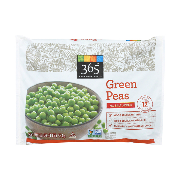 365 everyday value® Frozen Green Peas (No Salt Added), 16 oz
