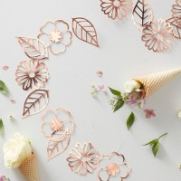 Foiled Ditsy Floral Garland