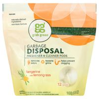 GG Grab Green Grab Green Garbage Disposal Fresehner & Cleaner Pods Tangerine With Lemongrass