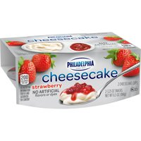 Philadelphia Strawberry Cheesecake Cups, 2 ct - 3.25 oz Cups