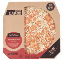 Marketside Thin-Crust Pepperoni Pizza, Extra Large