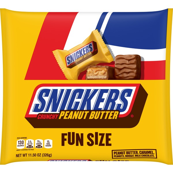 Snickers Peanut Butter Squared Fun Size Chocolate Candy Bars