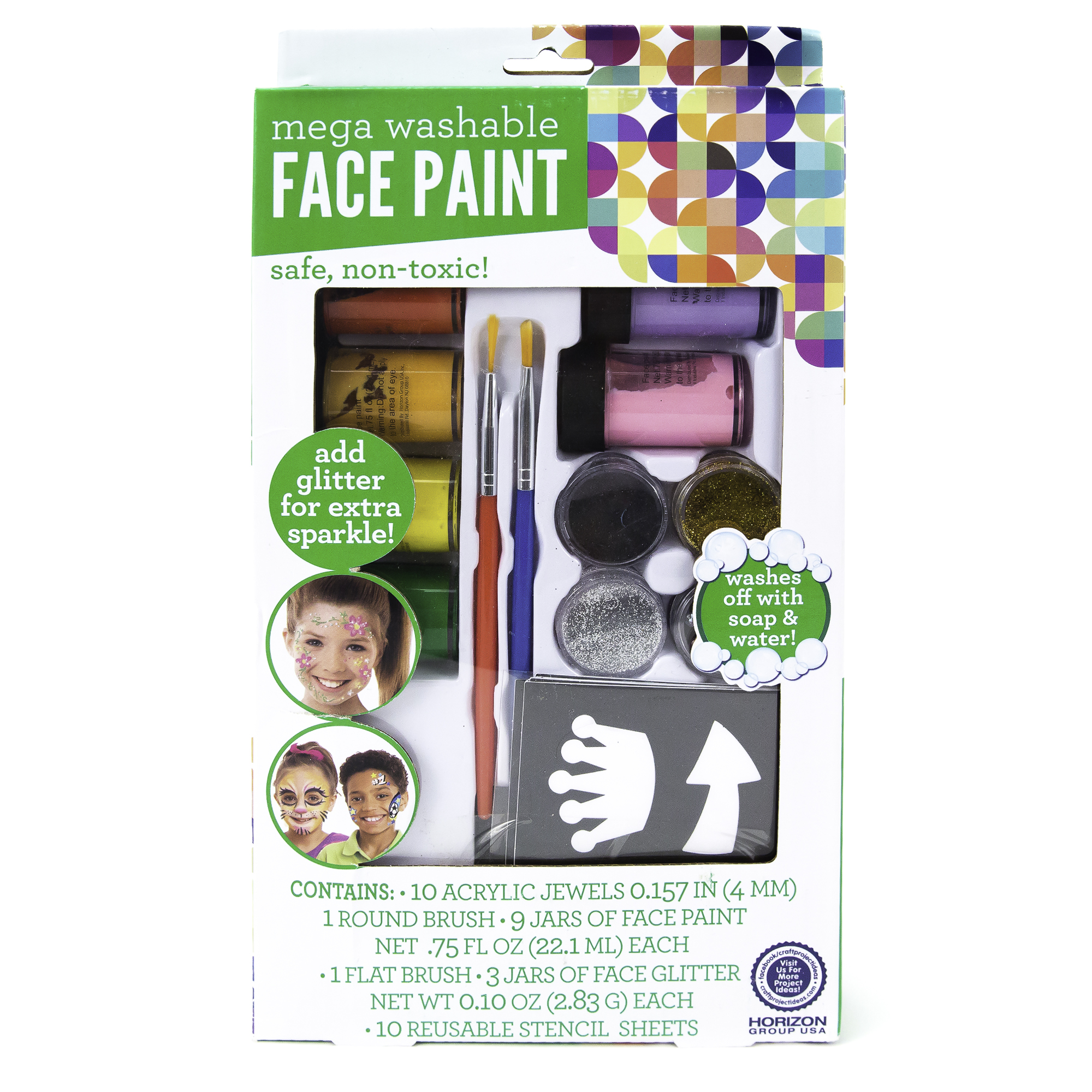 Kids Craft Face Paint Mega Pack, 1 Each
