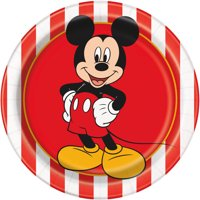 Mickey Mouse Paper Dessert Plates, 7in, 8ct