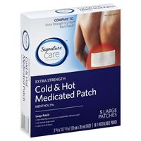 Signature Care Cold & Hot Medicated Patch, Menthol 5%