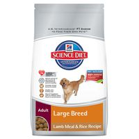 Hill's Science Diet Dog Food, Lamb Meal & Brown Rice Recipe, Premium, Large Breed, Adult 1-5