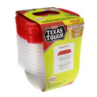 H-E-B 25 Ounce Texas Tough Medium Square Food Storage Containers Value Pack