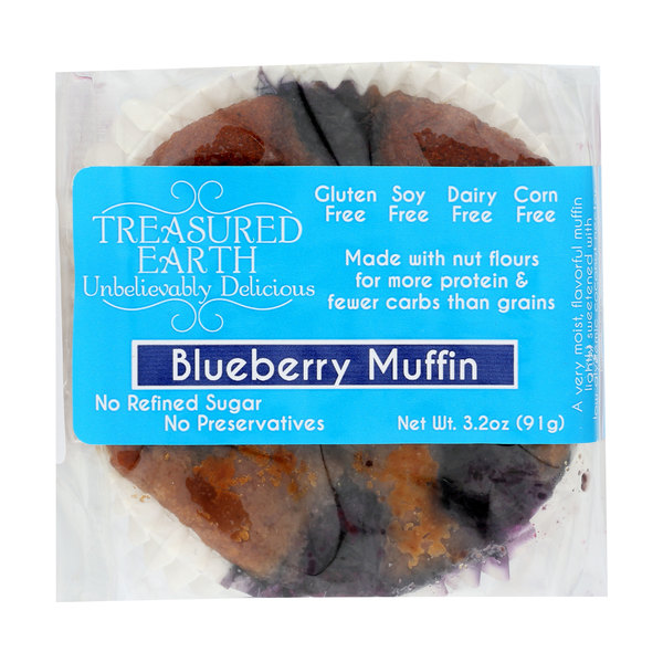 Treasured earth foods Blueberry Muffins, 3.2 oz