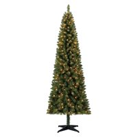 Holiday Time Pre-Lit 7' Brinkley Pine Artificial Christmas Tree, Clear-Lights