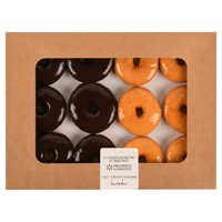 Freshness Guranteed Chocolate Iced and Glazed Donuts, 12 Count