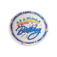 Unique Happy Birthday Plates, 9""