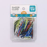 Pen+Gear Paper Clips 100ct 28mm Vinyl Coated Assorted Colors Crafts Home School Office