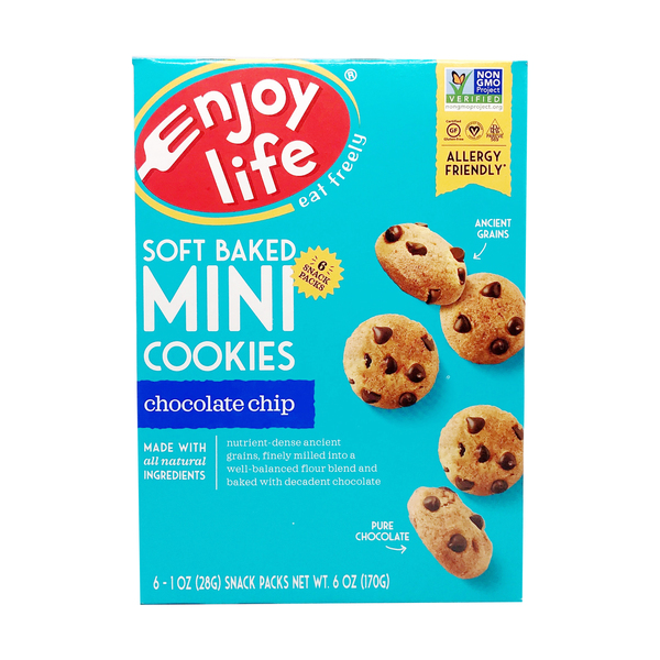 Mini Chocolate Chip Soft Cookies 6 Pack, 1 each