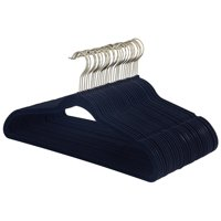 Better Homes & Gardens Black Nonslip Ultra Slim Hangers, 30 Count