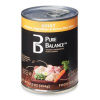 Pure Balance Adult Wet Food Recipe, Chicken, Vegetables & Brown Rice Stew, 12.5 oz
