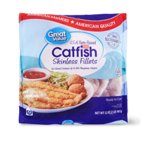 Great Value Frozen Catfish Fillets, 2 lb