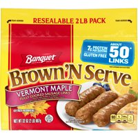 Banquet Brown 'N Serve Maple Precooked Sausage Links, 32 Ounce Value Pack, 50 Count