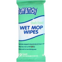 Tuff & Tidy Fresh Scent Wet Mop Wipes, 12 count