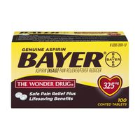 Bayer Genuine Asprin  Pain Reliever/Fever Reducer Coated Tablets