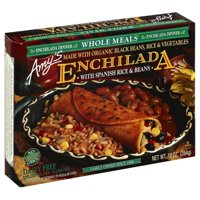 Amy's Enchilada with Spanish Rice & Beans, Whole Meals, Gluten Free, 10-Ounce