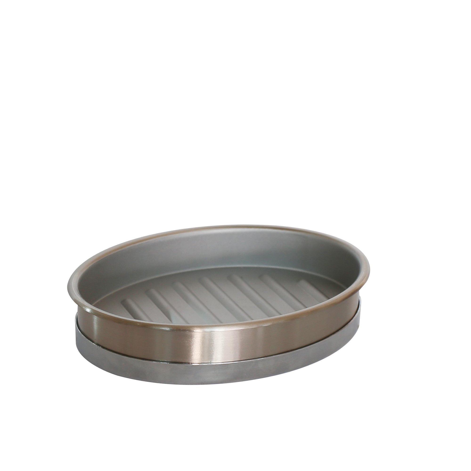 Better Homes & Gardens Two-Tone Metal Soap Dish, Silver
