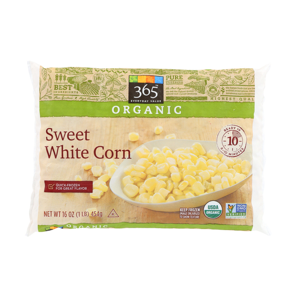 365 everyday value® Organic White Kernel Corn, 16 oz