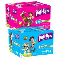 Huggies Pull-Ups Plus Boys/Girls 4T-5T, 102 ct