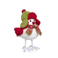 Holiday Time Fabric Bird Table Top Décor - White Fur Body