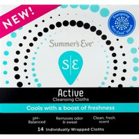 Summer's Eve Cleansing Cloths, Active, Individually Wrapped
