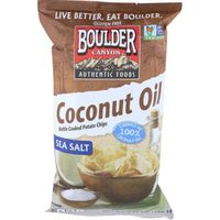 Boulder Canyon Kettle Cooked Potato Chips Coconut Oil Classic Sea Salt