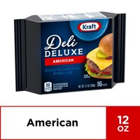 Kraft Deli Deluxe Cheese Slices, American Cheese, 16 ct - 12.0 oz Wrapper