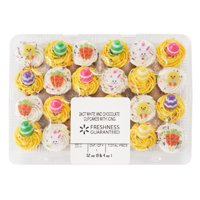 Freshness Guaranteed White and Chocolate Cupcakes with Icing, 52 oz, 24 Count