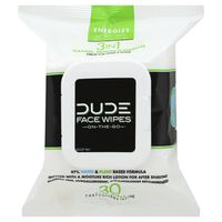 Dude Face Wipes, Energize, On-the-Go