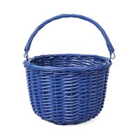 Way To Celebrate Easter Woven Round Basket with Handle, Blue