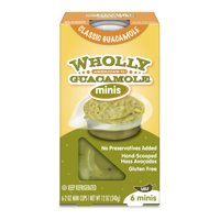 Wholly Guacamole Minis Classic Mild, 6 count, 2 oz
