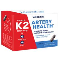 Weider Artery Health with Vitamin K2, 60 ct