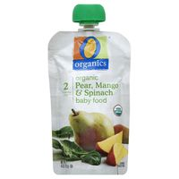 O Organics Baby Food, Organic, Pear, Mango & Spinach, 2 (6 Months & Up)