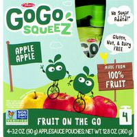 GoGo Squeez Applesauce, Apple Apple