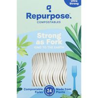 Repurpose Forks, Ultra Strong, Compostables
