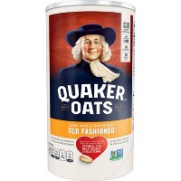 Quaker 100% Whole Grain Old Fashioned Rolled Oats Canister - 18oz