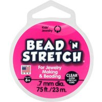 Toner Plastics, Inc. Bead N' Stretch, Clear, 75 Ft.