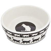 "Harmony Catwalk Ceramic Cat Bowl 1.75"" H X 5"" Diameter"
