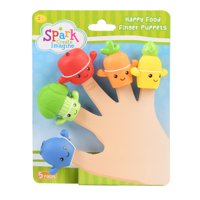 Spark Create Imagine Happy Food Finger Puppets, 5 Pieces