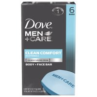 Dove Men+Care Body and Face Bar Clean Comfort 3.75 oz, 6 Bar