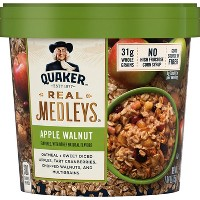 Quaker Real Medleys Apple Walnut Oatmeal Cup - 2.64oz