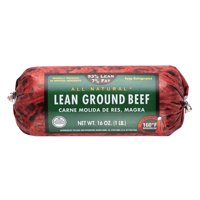 All Natural* 93% Lean/7% Fat Lean Ground Beef Roll, 1 lb