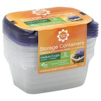 Signature Select Medium Rectangle Containers & Lids