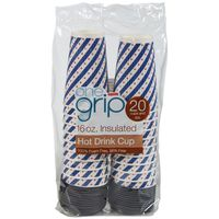 Acadian Trading 16 Ounce One Grip Insulated Hot Drink Cups
