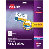 Avery Adhesive Name Badges, 2-1/3