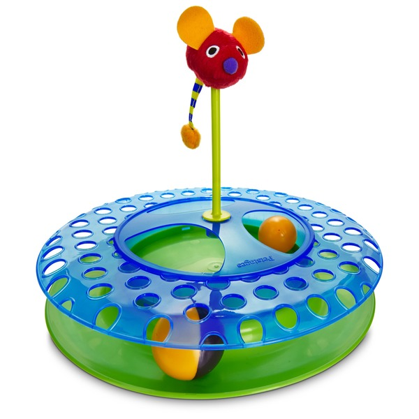 Petstages Cheese Chase Ball Track Cat Toy